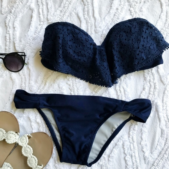 Berry Stylish Other - Berry Lacey Bikini in Navy Blue - S / XS